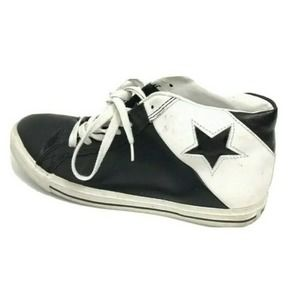 Converse Mid Top Star Shoe Men's 6.5 Leather